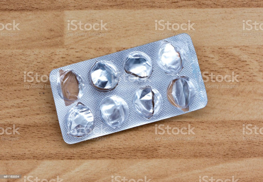 The empty packing from tablets. stock photo