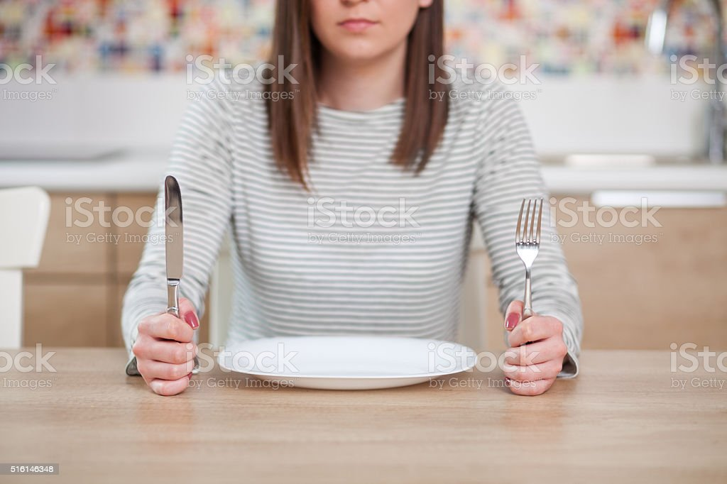 The empty plate stock photo