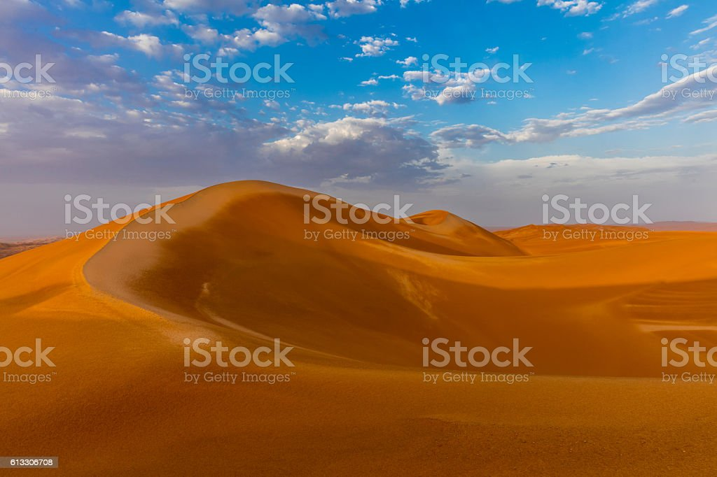 The Empty Quarter Desert After the Rain stock photo