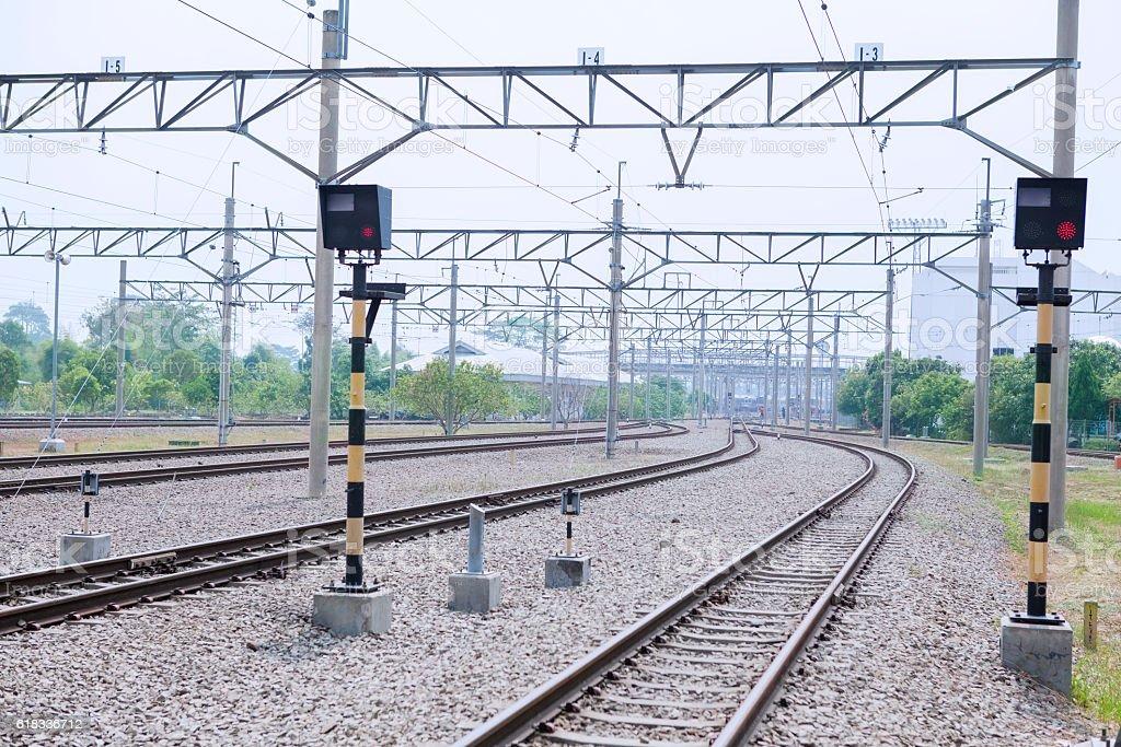 The empty railway stock photo