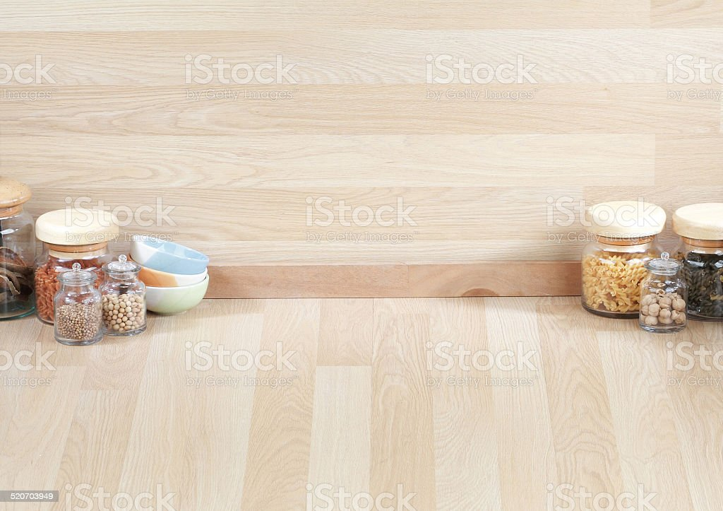 The empty space in the kitchen stock photo