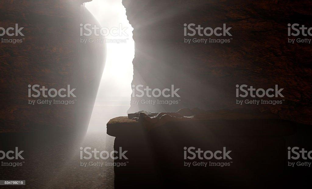 The Empty Tomb of Jesus stock photo