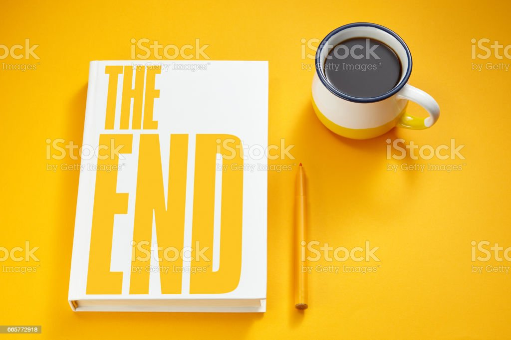 the end book stock photo