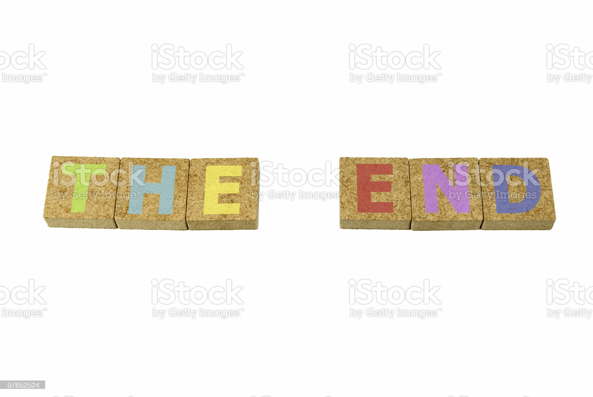 The End - Clipping path royalty-free stock photo