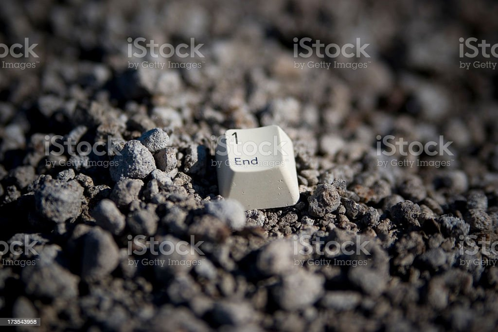 the end key royalty-free stock photo