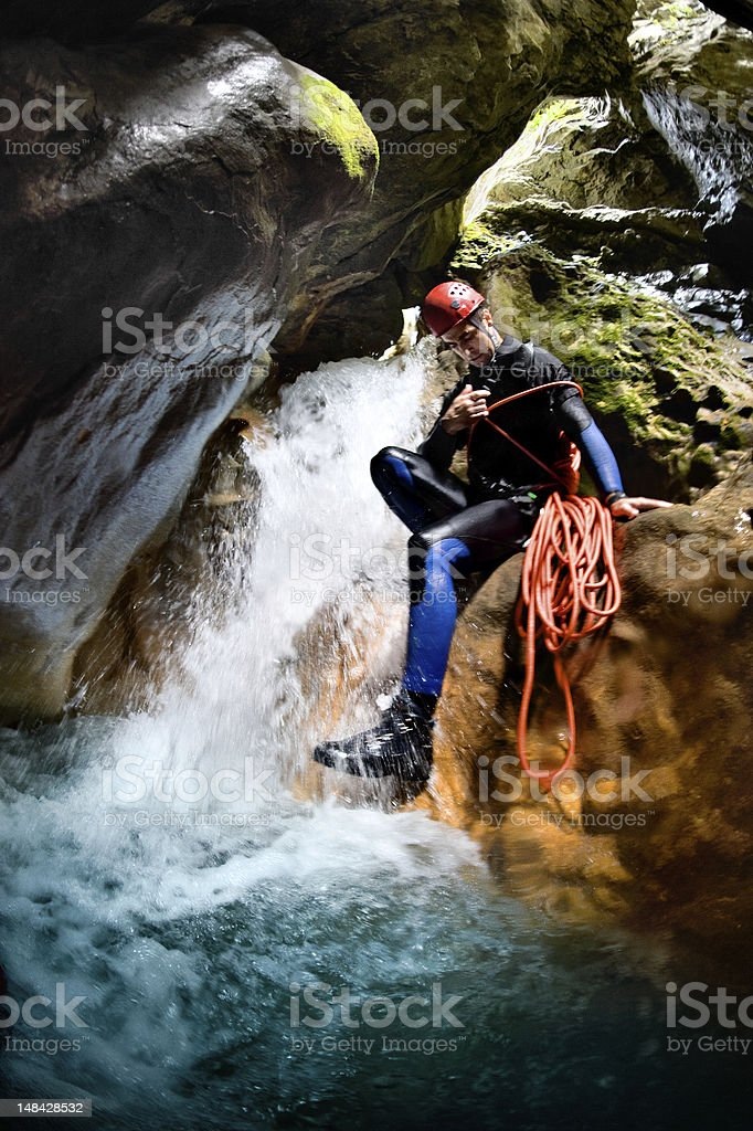 The end of a waterfall royalty-free stock photo