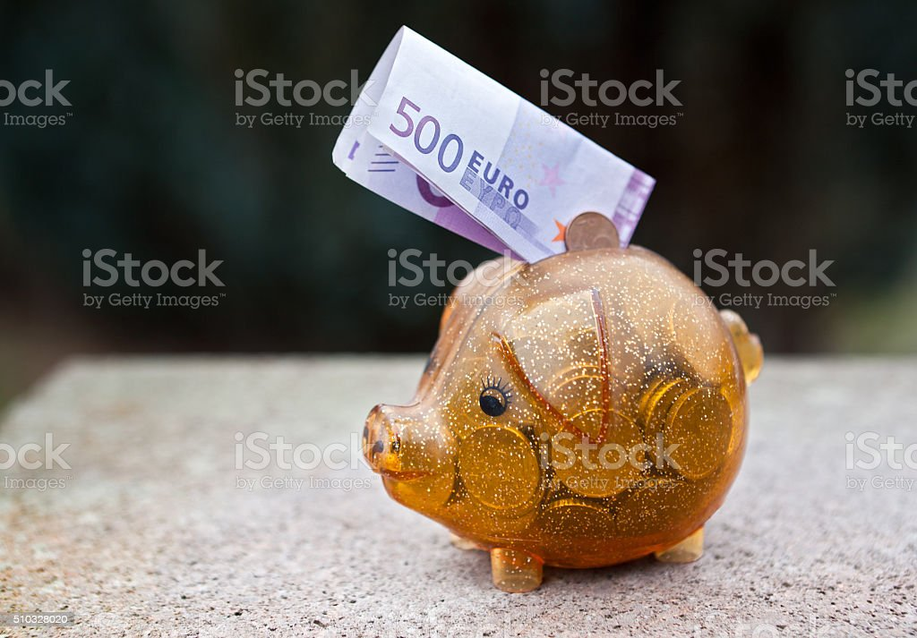 The end of the € 500 bill stock photo