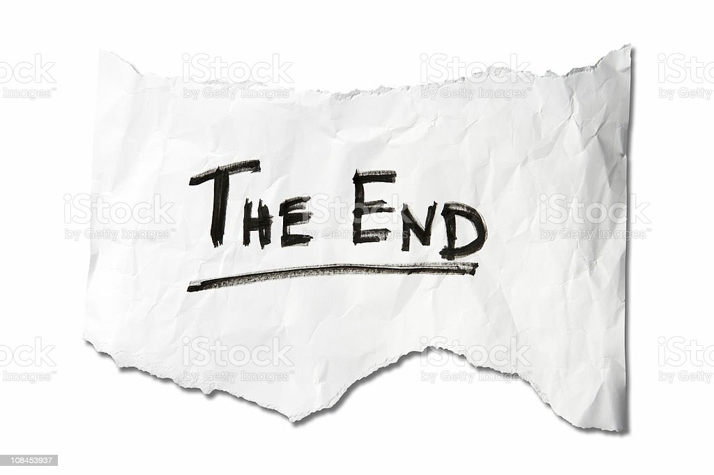 The End  #2 royalty-free stock photo