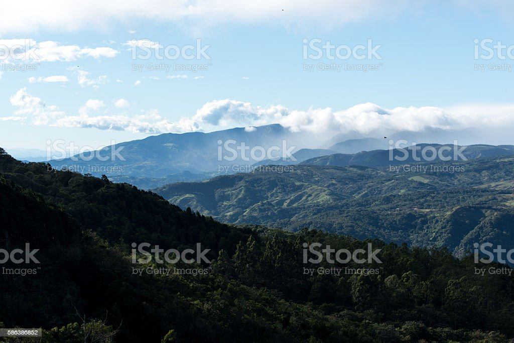 The endless mountain landscapes of Costa Rica stock photo