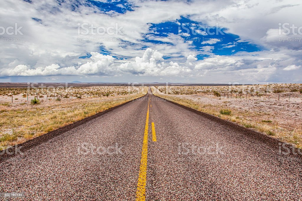 The Endless Road stock photo