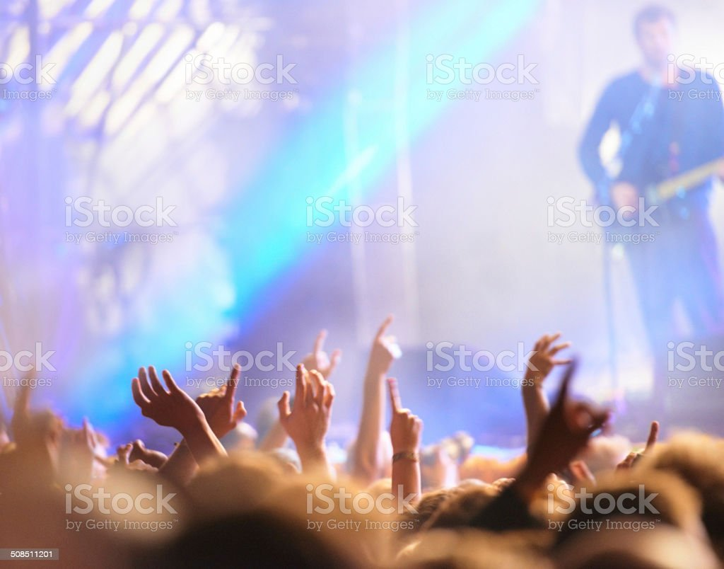 The energy is electric! stock photo