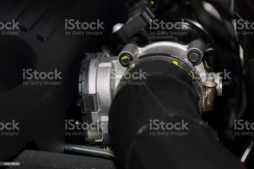 The engine air Filter is a strip of material stock photo