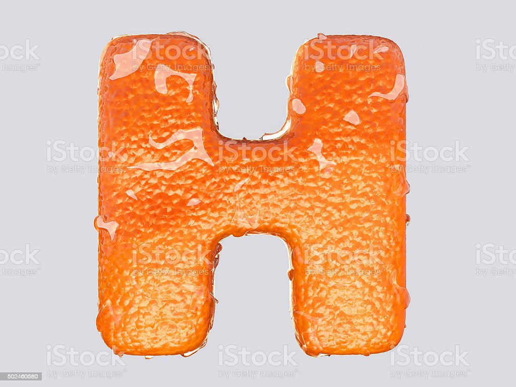 The English letter H stock photo