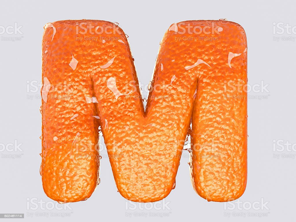 The English letter M stock photo