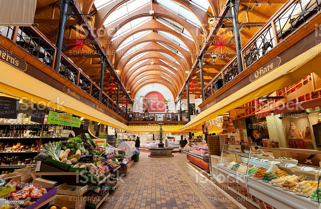 The English Market in Cork stock photo