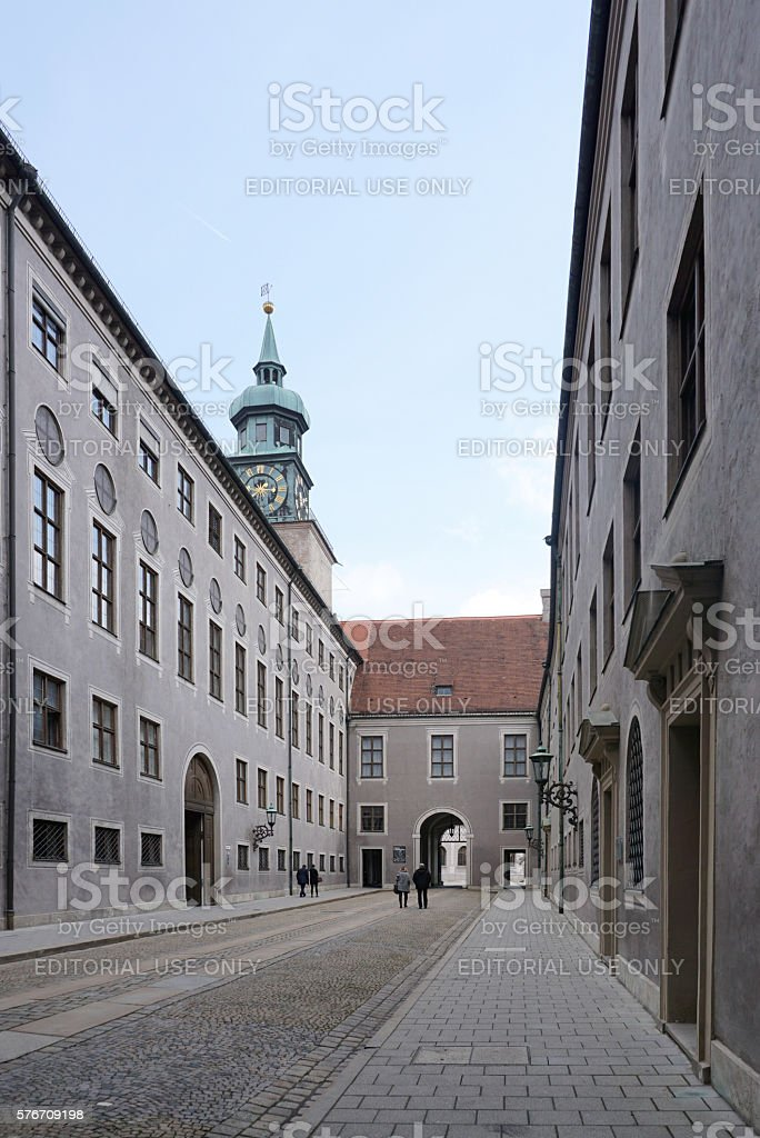The entrance of  Munich Residenz museum stock photo