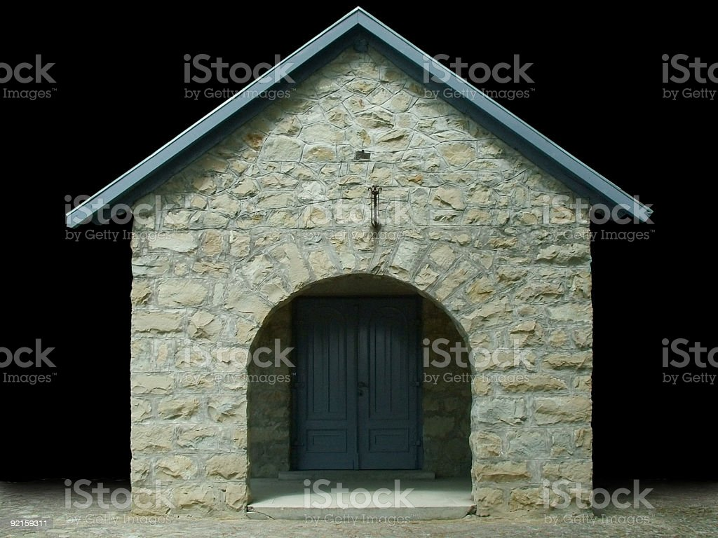 The entrance royalty-free stock photo