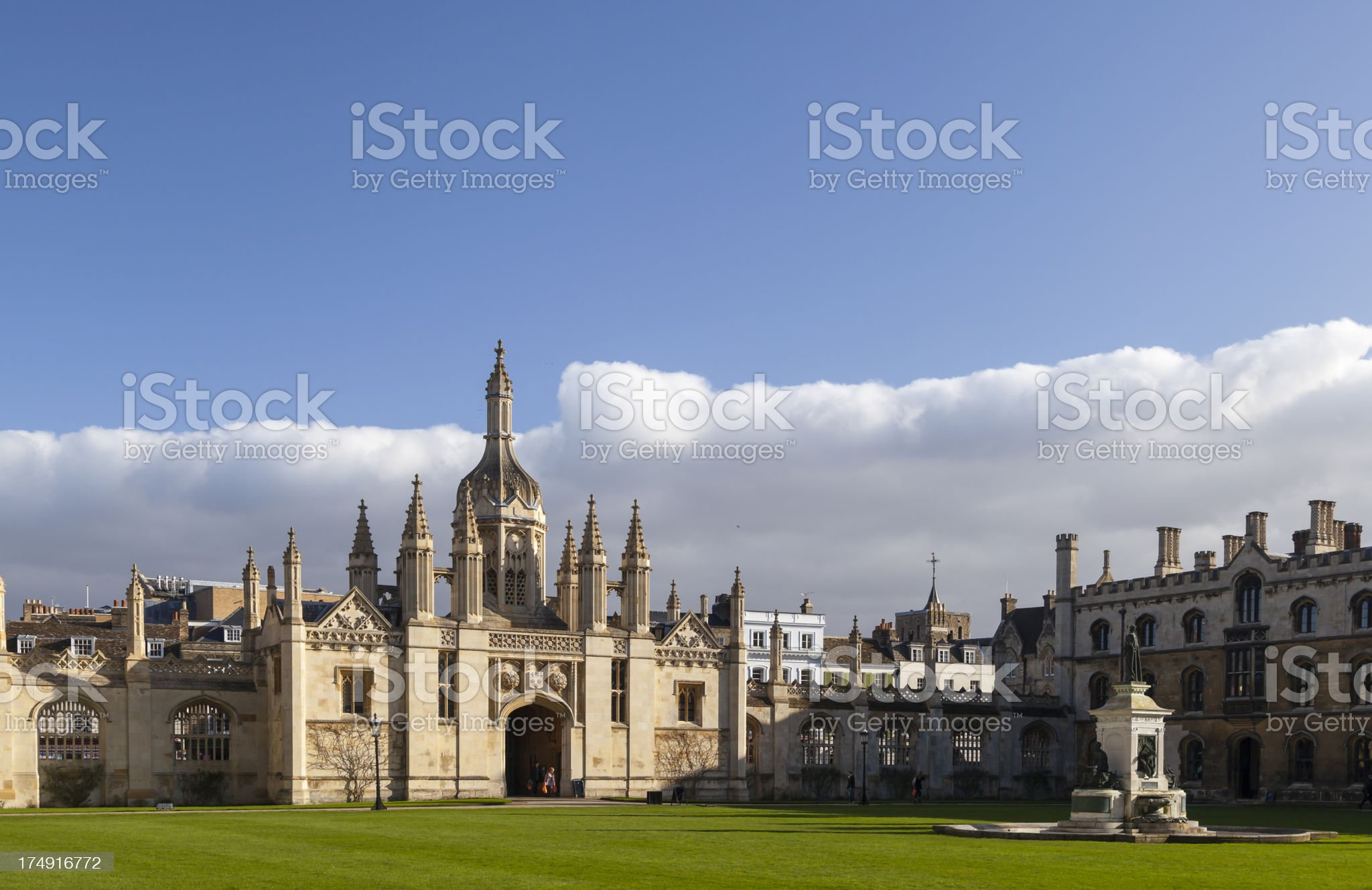 The entrance to King's College royalty-free stock photo