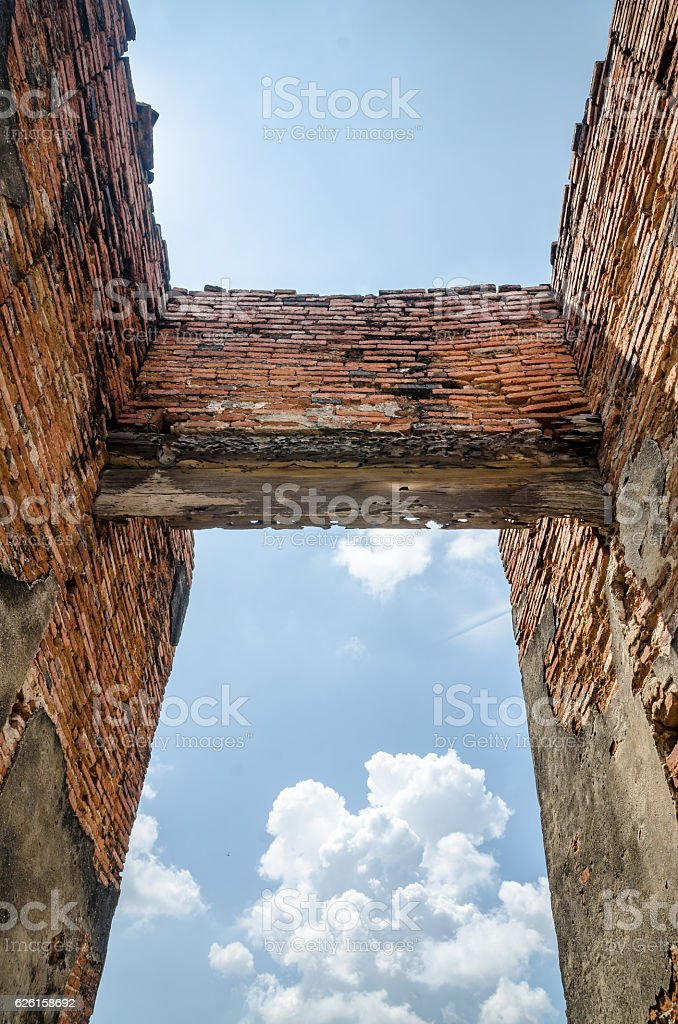 The entrance to the ancient temples stock photo