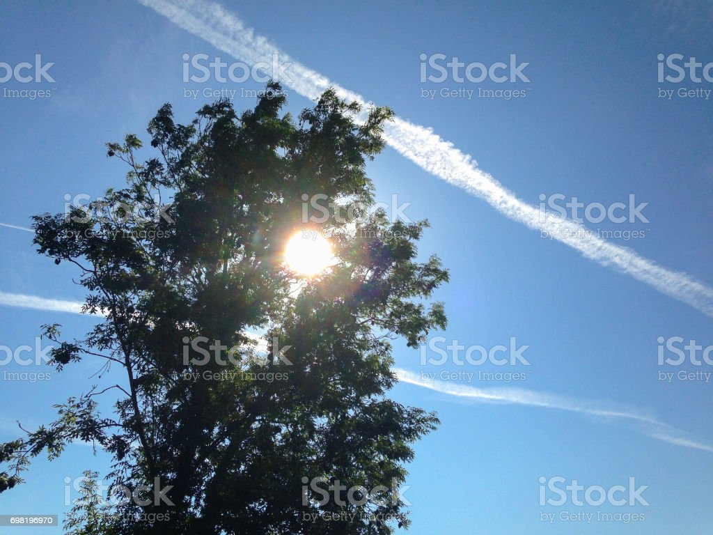 The Environment - Aeroplane Trails stock photo