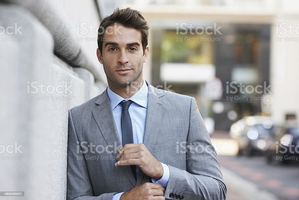 The epitome of a modern businessman royalty-free stock photo