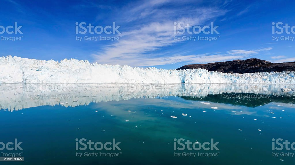 The Eqi glacier stock photo