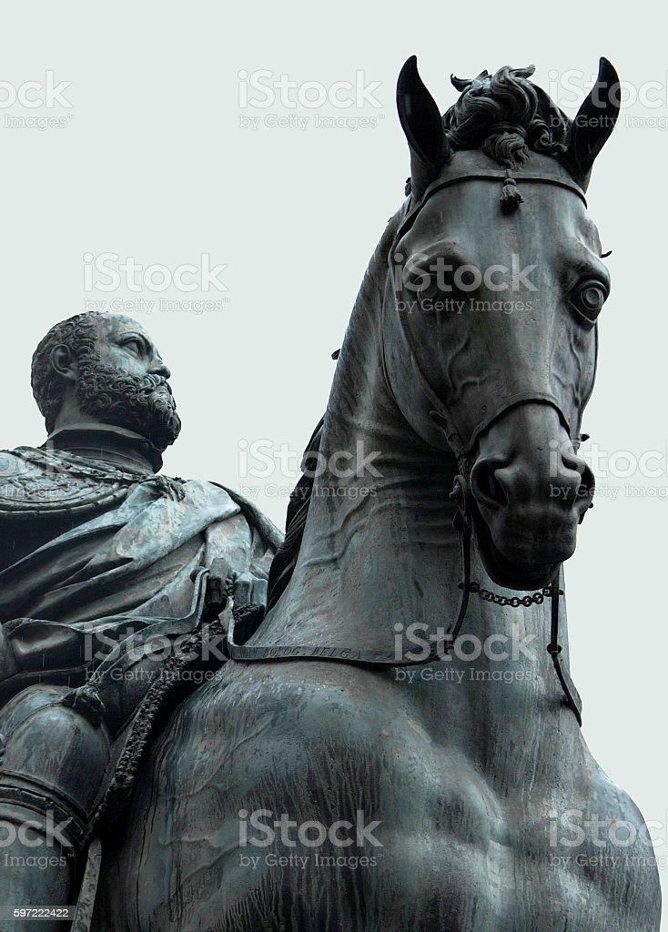 The Equestrian Monument of Cosimo I stock photo