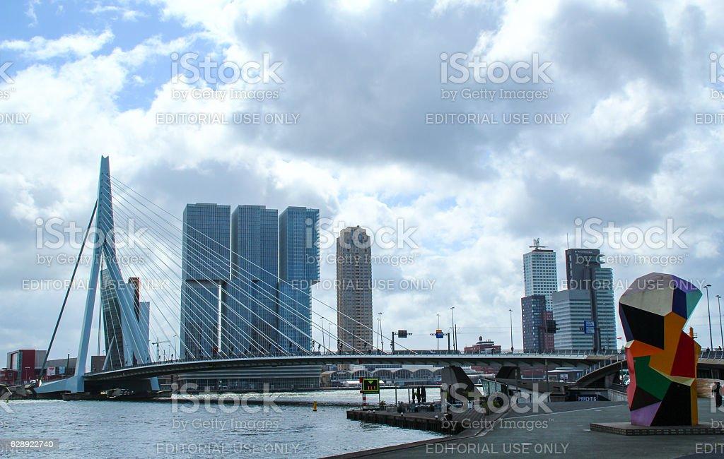 The Erasmus Bridge stock photo