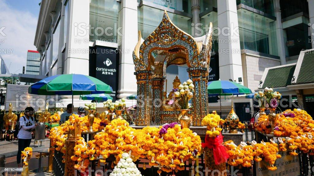 The Erawan Shrine stock photo