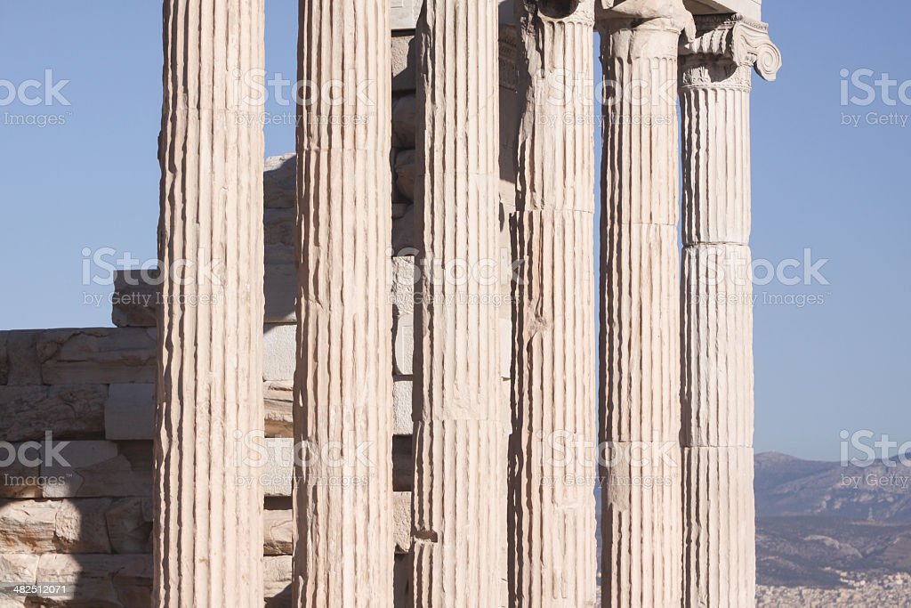 The Erechtheion in Athens, Greece royalty-free stock photo
