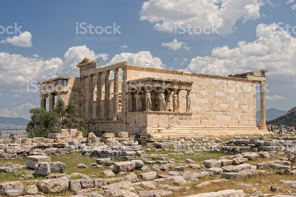 The Erechtheum at  Acropolis royalty-free stock photo
