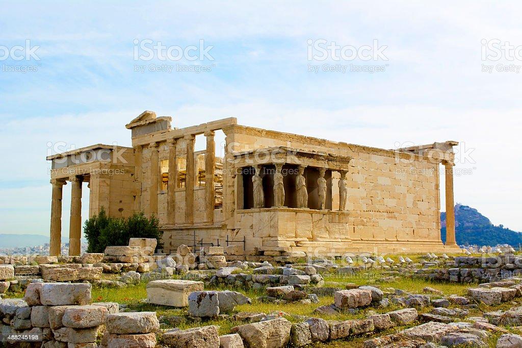The Erechtheum, Athens stock photo