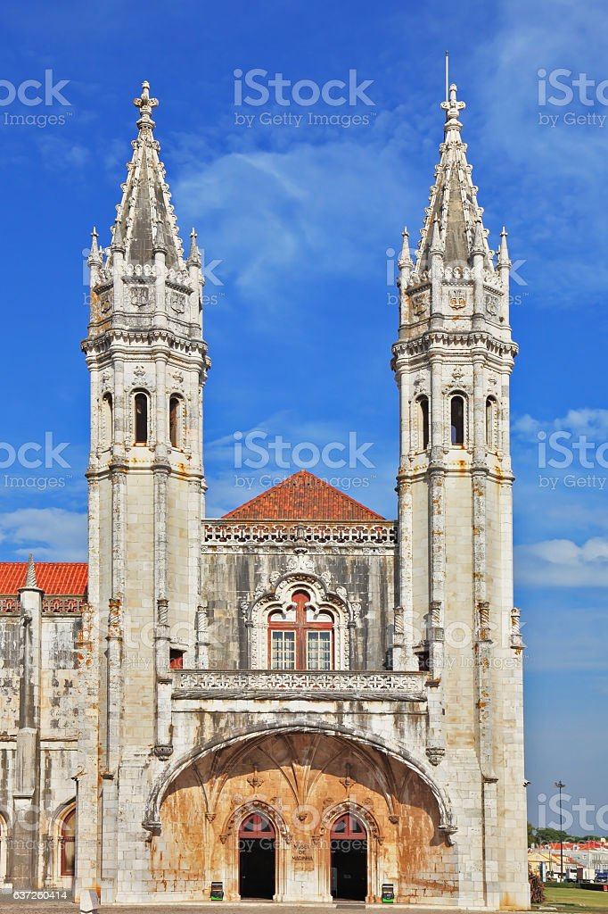 The eronimos monastery on the River Tagus stock photo