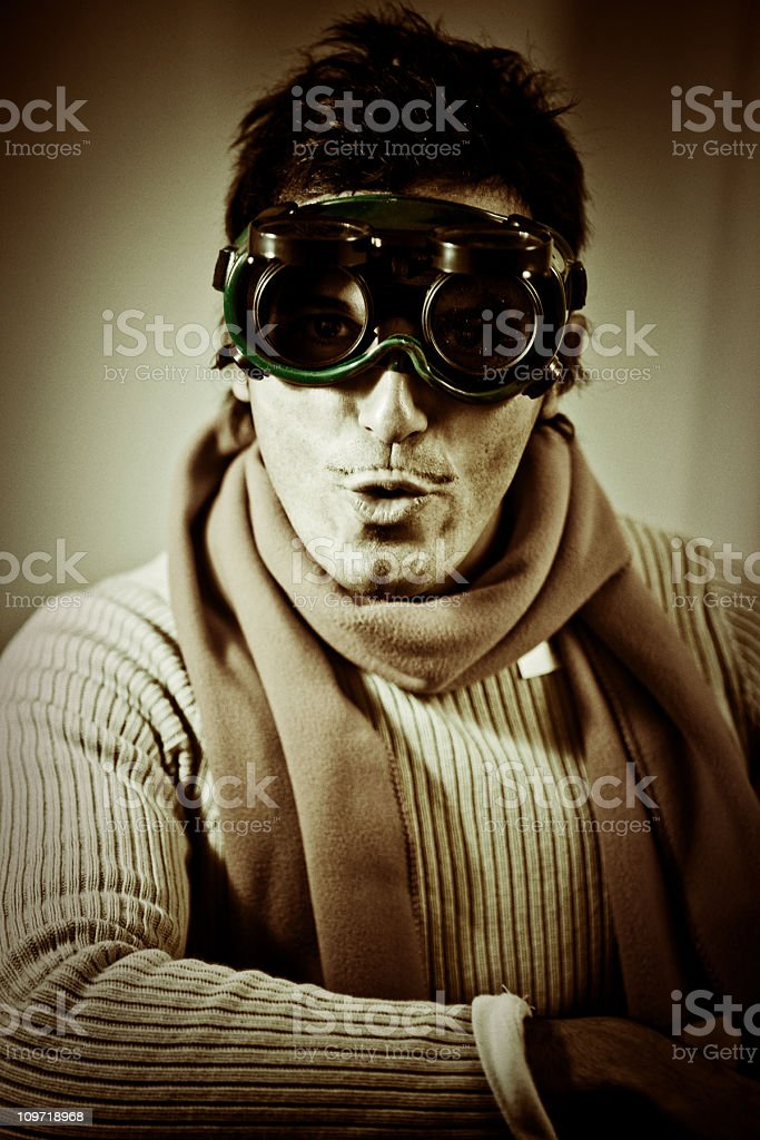 the errand pilot stock photo