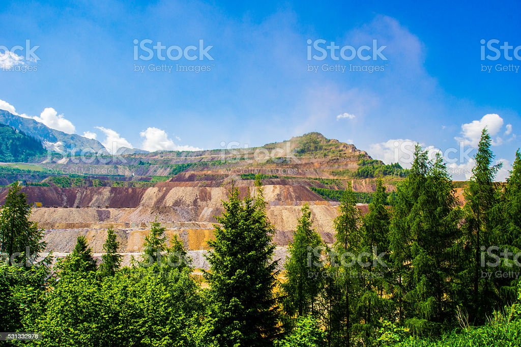 The Erzberg of Styria stock photo