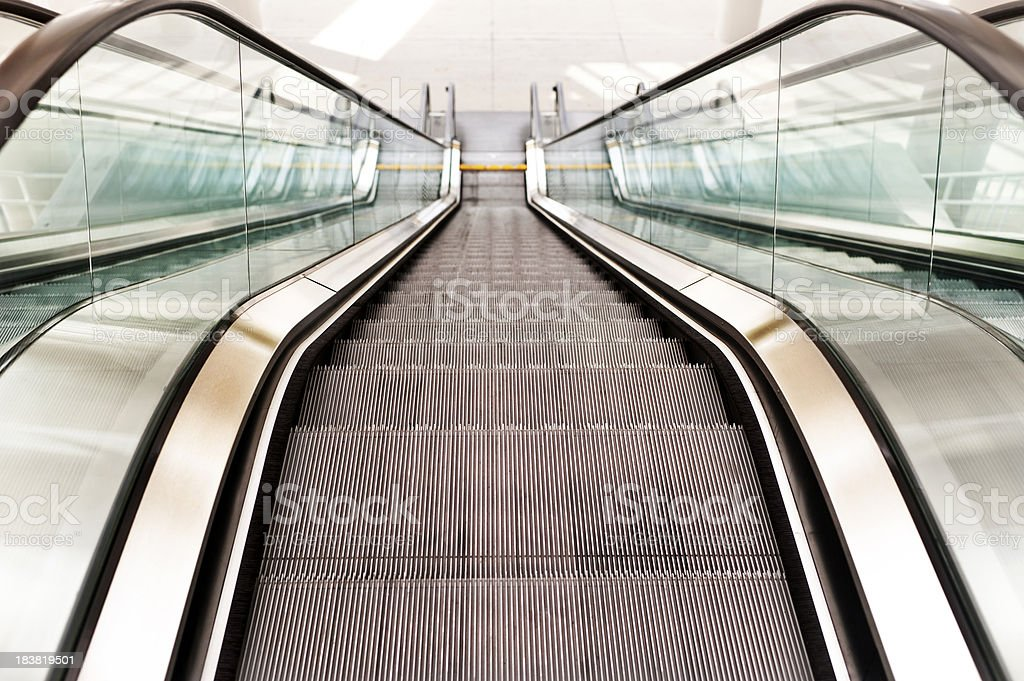 The Escalator stock photo