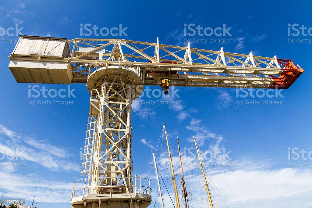 The 'Escalet' Crane at La Ciotat (France) stock photo