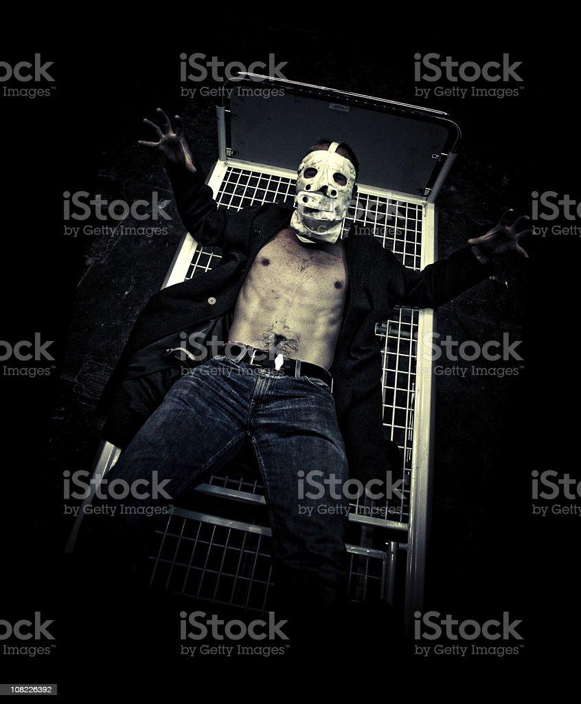 the escape of suberman stock photo