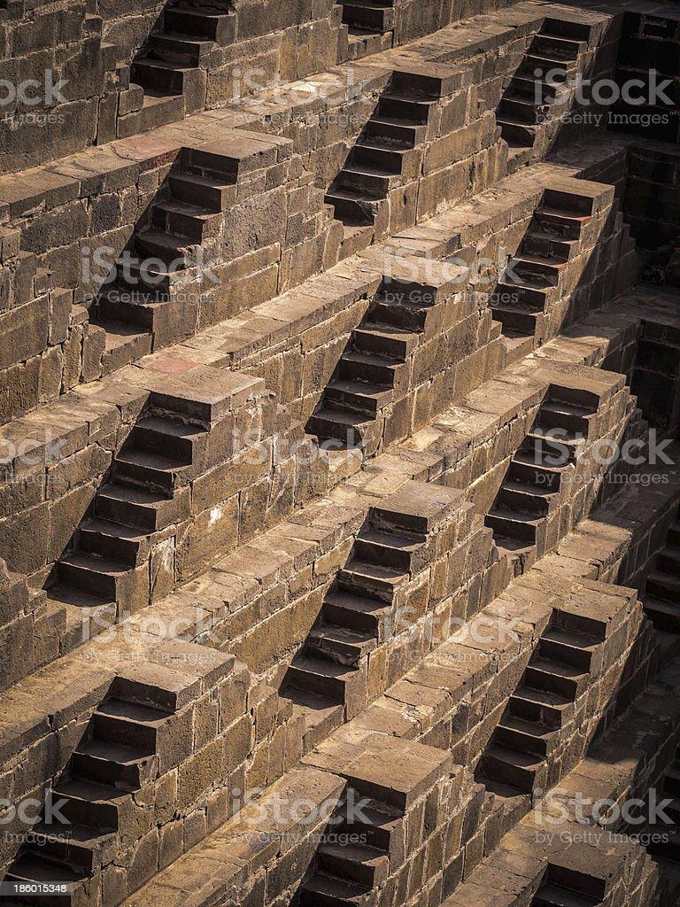 The Escherian Stepwell stock photo