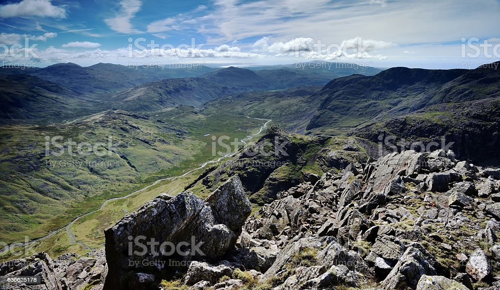 The Eskdale Valley stock photo