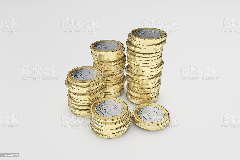 The eu gold COINS stock photo