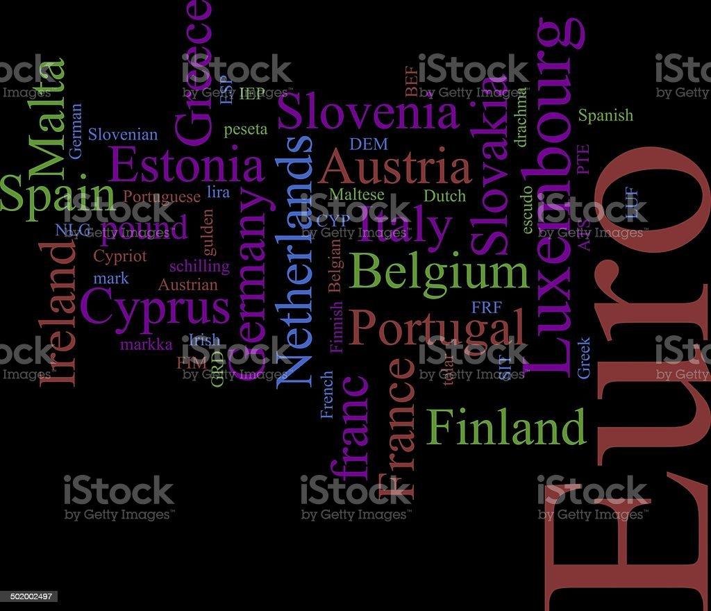 The EURO stock photo