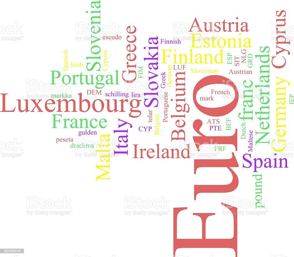 The EURO royalty-free stock photo