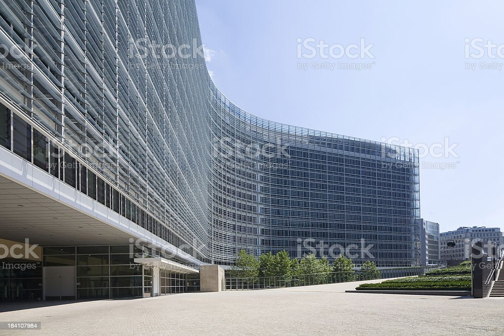 The European Commission in Brussels stock photo