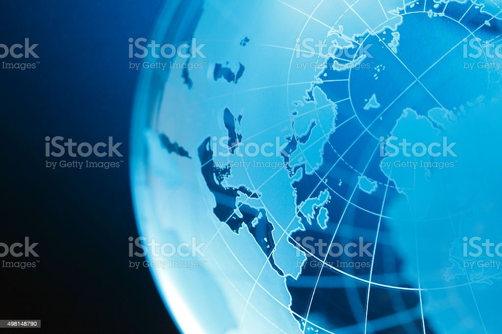 The European Continent On A Globe stock photo