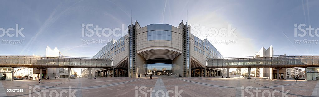 The European Parliament in Brussels stock photo