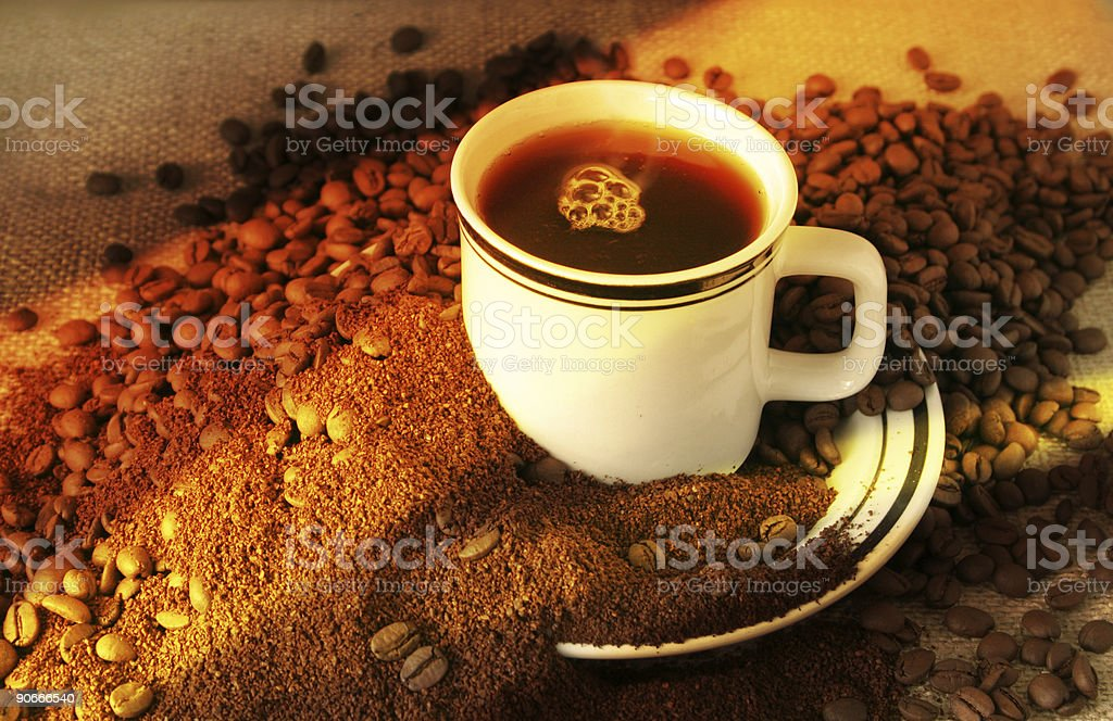 The Evolution of Coffee royalty-free stock photo