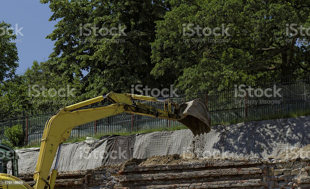 the excavator working royalty-free stock photo