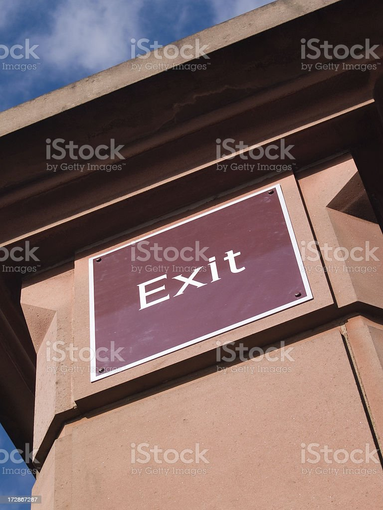 The Exit royalty-free stock photo