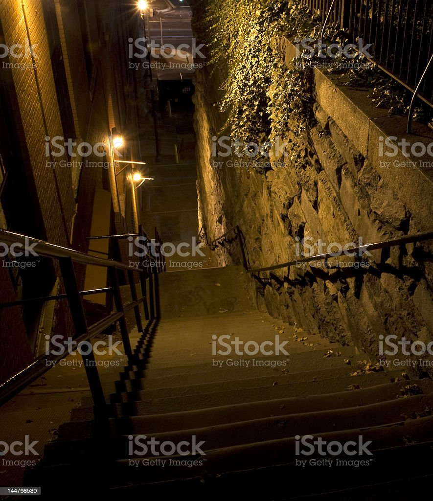 The Exorcist Steps of Prospect Street stock photo